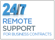 24/7 Remote Support for our Business Clients
